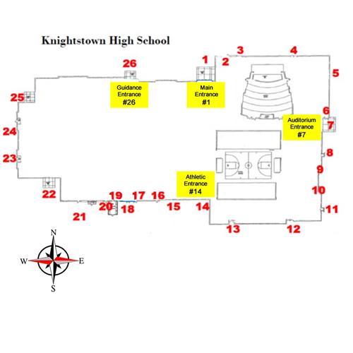 KHS Door Numbering Map