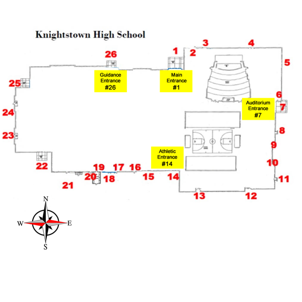 KHS Door Numbering Map